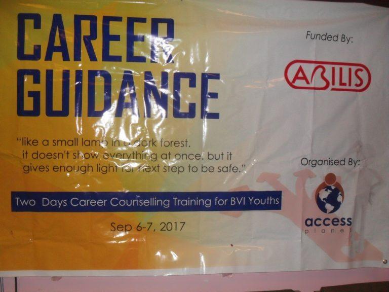 Banner image showing career guidance program name