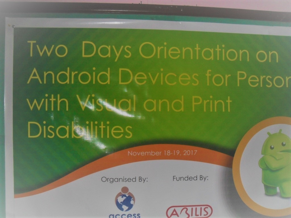 The banner of the program showing the text that says two days orientation on Android Devices.